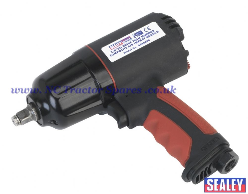 "Composite Air Impact Wrench 3/8""Sq Drive Twin Hammer"